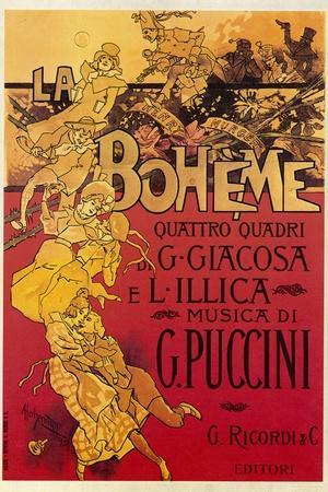 Puccini, La Boheme-Adolfo Hohenstein-Stretched Canvas Print