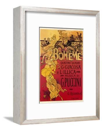 Puccini, La Boheme-Adolfo Hohenstein-Framed Giclee Print