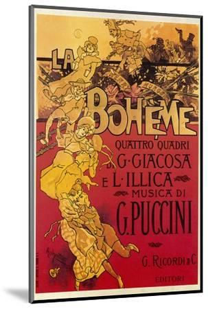 Puccini, La Boheme-Adolfo Hohenstein-Mounted Giclee Print