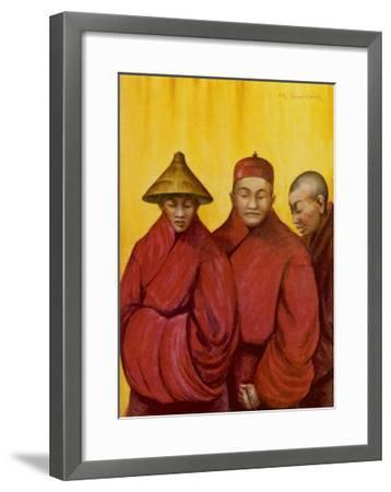 Tibetan Red Lamas-Henry Savage Landor-Framed Giclee Print