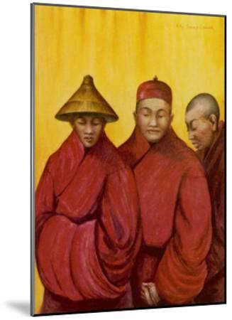 Tibetan Red Lamas-Henry Savage Landor-Mounted Giclee Print