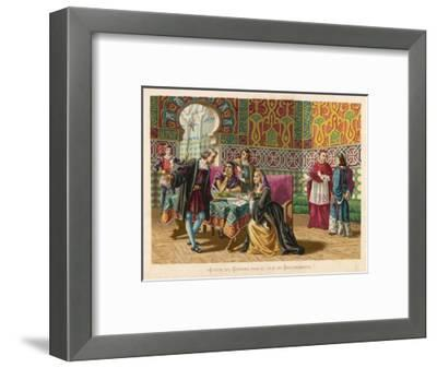 Columbus Agrees Terms with King Ferdinand and Queen Isabella- Planetta-Framed Giclee Print