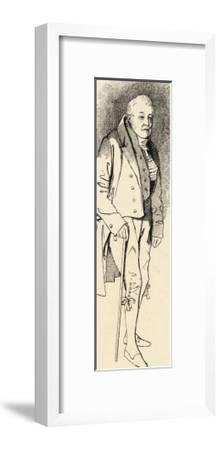 Samuel Taylor Coleridge English Poet and Critic in Old Age- Maclise-Framed Giclee Print