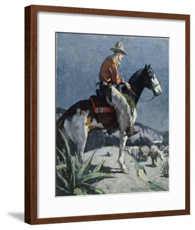 The American Cowboy-Sidney Riesenberg-Framed Giclee Print