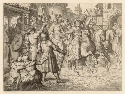 Threatened with Excommunication by the Pope Luther Travels to Worms-Gustav Konig-Stretched Canvas Print