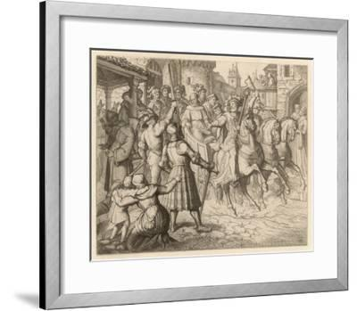 Threatened with Excommunication by the Pope Luther Travels to Worms-Gustav Konig-Framed Giclee Print