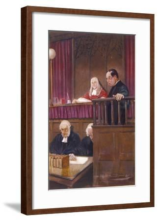 The Wisdom of Father Brown, the Priestly Detective Gives Evidence in Court-Seymour Lucas-Framed Giclee Print