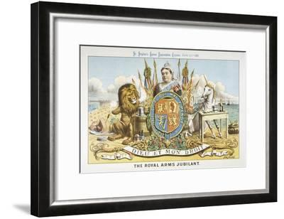Victoria Depicted with Her Loyal Lion-Tom Merry-Framed Giclee Print