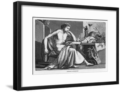 Aristotle Greek Philosopher as a Young Man Reading at His Desk-C. Laplante-Framed Giclee Print