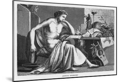 Aristotle Greek Philosopher as a Young Man Reading at His Desk-C. Laplante-Mounted Giclee Print
