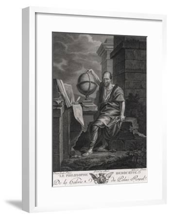 Democritus Greek Philosopher and Scientist- Lorieux-Framed Giclee Print