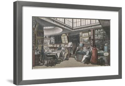 Ackermann's Repository of Arts 101 the Strand- Rowlandson & Pugin-Framed Giclee Print