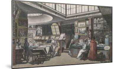 Ackermann's Repository of Arts 101 the Strand- Rowlandson & Pugin-Mounted Giclee Print