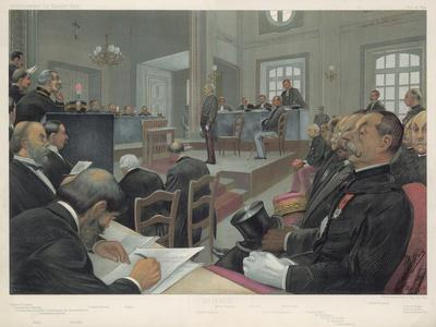 Dreyfus Stands Trial Again at Rennes- Guth-Stretched Canvas Print