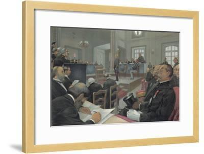 Dreyfus Stands Trial Again at Rennes- Guth-Framed Giclee Print