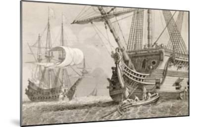 French Warships at Anchor- Morel-Mounted Giclee Print