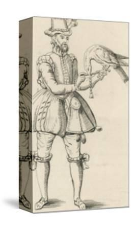 An Elizabethan Falconer with His Bird-S. Major-Stretched Canvas Print