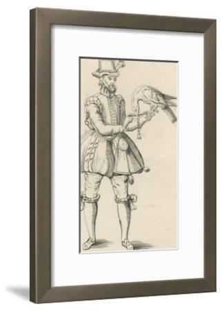 An Elizabethan Falconer with His Bird-S. Major-Framed Giclee Print