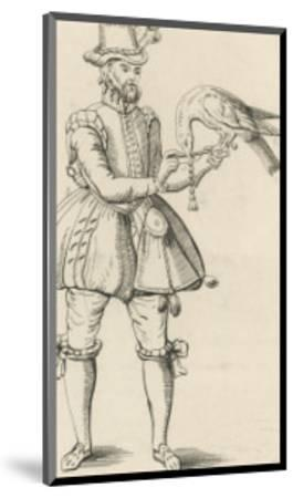 An Elizabethan Falconer with His Bird-S. Major-Mounted Giclee Print