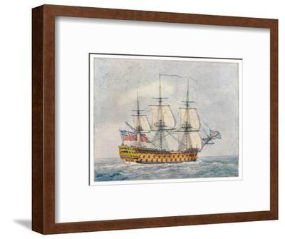 Warship of the British Navy- Pollard-Framed Giclee Print