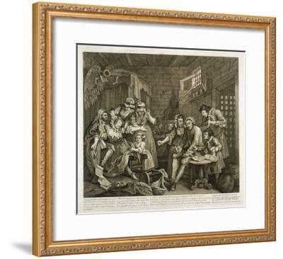 Prisoners in Newgate Prison-William Hogarth-Framed Giclee Print