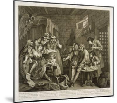 Prisoners in Newgate Prison-William Hogarth-Mounted Giclee Print