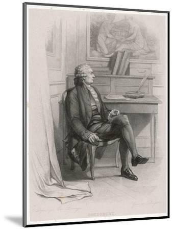 Marquis de Condorcet French Philosopher Sitting at His Desk- Nargeot-Mounted Giclee Print