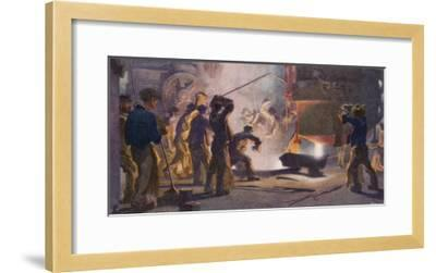 An Interior View of Krupps' Steelworks Ruhr-Heinrich Kley-Framed Giclee Print