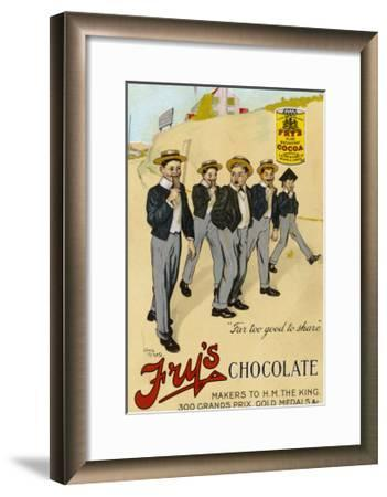 Four Public Schoolboys Enjoy Their Bars of Fry's Chocolate-Chas Pears-Framed Giclee Print