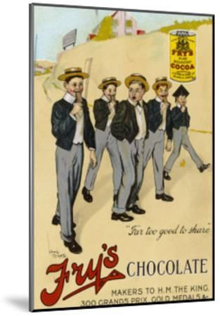 Four Public Schoolboys Enjoy Their Bars of Fry's Chocolate-Chas Pears-Mounted Giclee Print