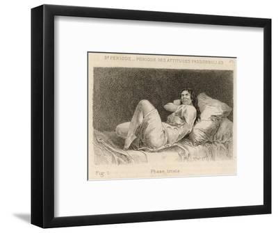Mental Patient at la Salpetriere Displaying the Melancholy Phase-P^ Richer-Framed Giclee Print