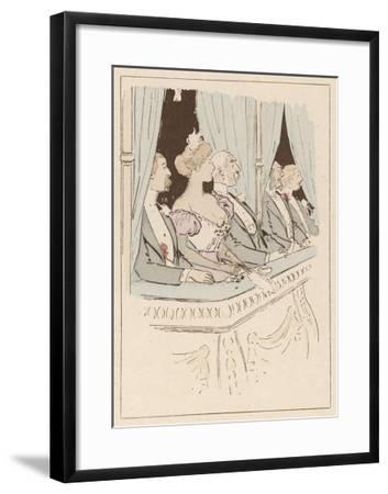 Some Very Stiff-Necked Theatregoers in the Box at a London Theatre- MARS (Maurice Bonvoisin)-Framed Giclee Print
