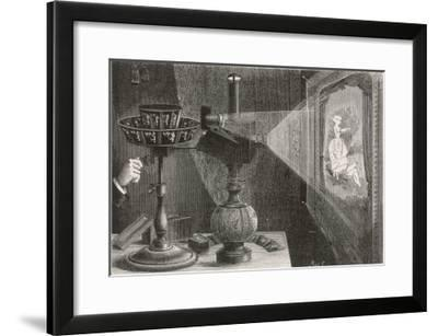 Reynaud's Praxinoscope Adapted for Projection onto a Screen- Poyet-Framed Giclee Print