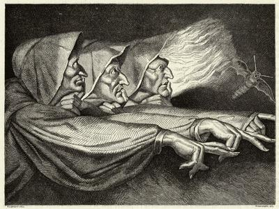 Macbeth, The Witches- Lorsay-Stretched Canvas Print