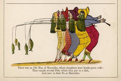 There was an Old Man of Marseilles-Edward Lear-Stretched Canvas Print