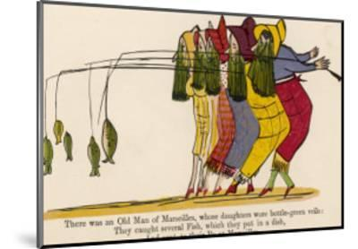 There was an Old Man of Marseilles-Edward Lear-Mounted Giclee Print