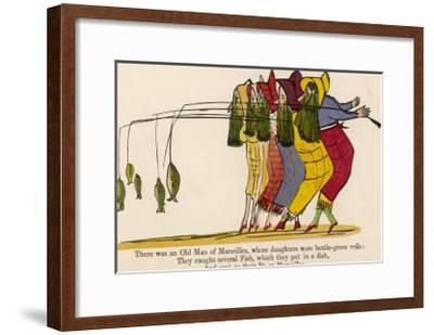 There was an Old Man of Marseilles-Edward Lear-Framed Giclee Print