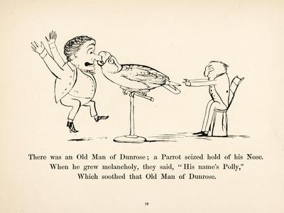 There was an Old Man of Dunrose-Edward Lear-Stretched Canvas Print