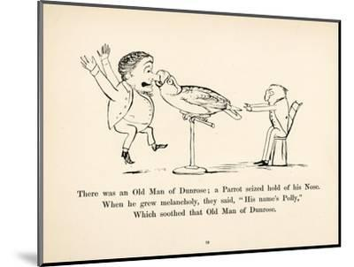 There was an Old Man of Dunrose-Edward Lear-Mounted Giclee Print
