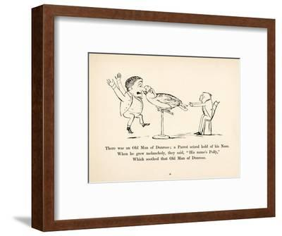 There was an Old Man of Dunrose-Edward Lear-Framed Giclee Print