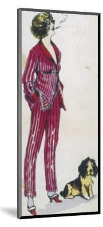 Forward Young Woman Wears a Cerise Pink and Red Pyjama Suit-Xavier Sager-Mounted Giclee Print