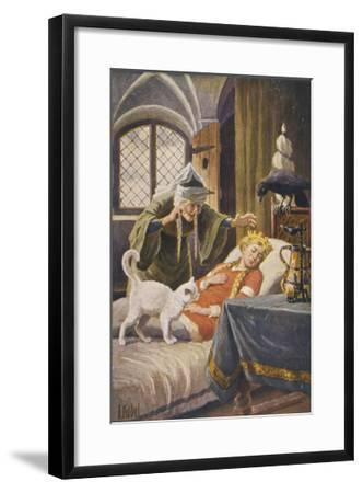 Beauty, and Everyone Else in the Palace Human or Animal, Fall Asleep Under the Witch's Spell-O. Kubel-Framed Giclee Print