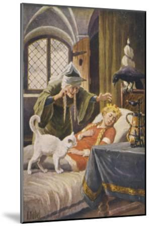 Beauty, and Everyone Else in the Palace Human or Animal, Fall Asleep Under the Witch's Spell-O. Kubel-Mounted Giclee Print