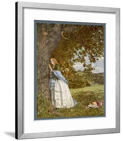 """""""The Talking Oak"""", Illustration to the Poem by Tennyson: a Girl and a Tree Share Confidences-W. Maw-Framed Giclee Print"""
