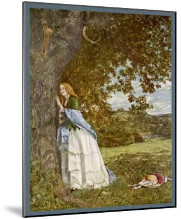 """""""The Talking Oak"""", Illustration to the Poem by Tennyson: a Girl and a Tree Share Confidences-W. Maw-Mounted Giclee Print"""