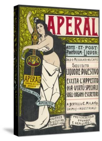Aperal, Aperitif Which May be Drunk on Its Own or Mixed with Your Coffee--Stretched Canvas Print
