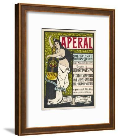 Aperal, Aperitif Which May be Drunk on Its Own or Mixed with Your Coffee--Framed Giclee Print