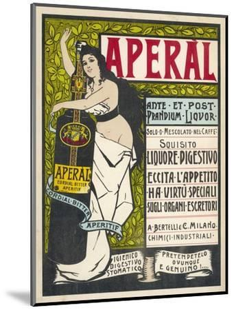 Aperal, Aperitif Which May be Drunk on Its Own or Mixed with Your Coffee--Mounted Giclee Print
