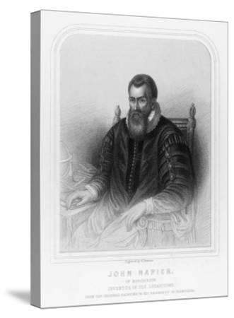 John Napier Scottish Mathematician Inventor of Logarithms--Stretched Canvas Print