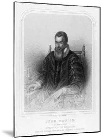 John Napier Scottish Mathematician Inventor of Logarithms--Mounted Giclee Print